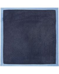 Kenneth Cole - Tribeca Knitted Silk Pocket Square - Lyst