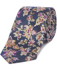 Ted Baker - Thistle Floral Jacquard Tie - Lyst