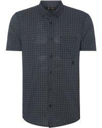 Label Lab - Men's Baily Tile Printed Short Sleeve Shirt - Lyst
