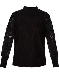 Ted Baker - Dilly Lace High Neck Half Sleeve Top - Lyst