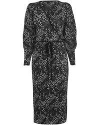 Biba Plisse Dress - Black