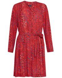 French Connection - Frances Drape Tie Waist Dress - Lyst