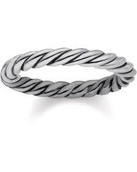 Thomas Sabo Sterling Silver Cord Ring Band - Metallic