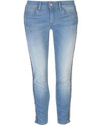 Salsa Wonder Stripe Jeans - Blue