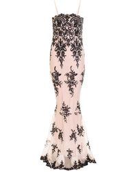 Quiz   Nude Sequin Sequin Scallop Fishtail Maxi Dress   Lyst