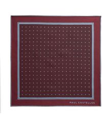 Paul Costelloe - Clane Herringbone Spot Pocket Square - Lyst