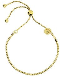 Azendi   Gold Vermeil Adjustable Flat Bracelet   Lyst