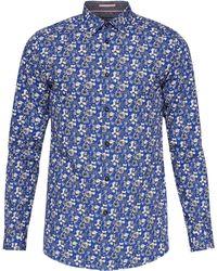 Ted Baker - Men's Bellla Floral Print Cotton Shirt - Lyst