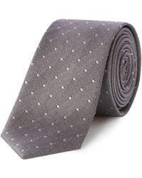 Kenneth Cole - Kyrie Woven Grey Spot Tie - Lyst