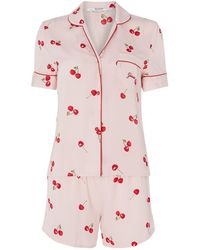 Guess Cherry Shirt Pyjama Set - Pink