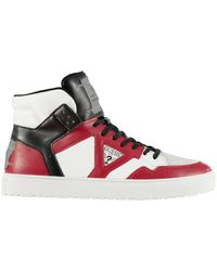Guess - High Top Trainers - Lyst