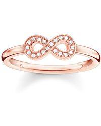 Thomas Sabo - Glam & Soul Diamond Infinity Ring - Lyst