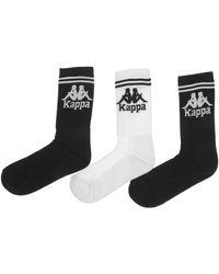 Kappa - Soccer 3 Pack Socks - Lyst