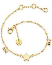 Daisy London - Little Star Good Karma Chain Bracelet - Lyst