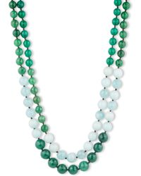 Lonna & Lilly - Two Row Agate And Amazonite Bead Necklace - Lyst