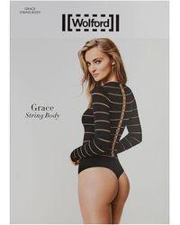 Wolford Grace String Body - Black