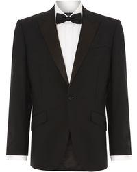New & Lingwood - Benson Black Evening Jacket With Satin Peak Lapel - Lyst