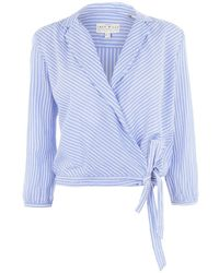 Jack Wills Jack Keira Wrap Shirt - Blue
