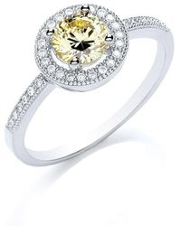 Bouton - Delicate Round Stone Ring - Lyst