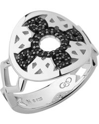 Links of London   Timeless Sterling Silver & Black Sapphire Ring   Lyst