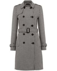 Phase Eight Tabatha Dog Tooth Trench - Grey