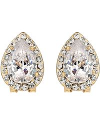 Mikey - Oval Stone Edged Stud Earring - Lyst