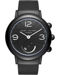 Marc By Marc Jacobs - Riley Black Ip And Black Rubber Hybrid Smartwatch - Lyst