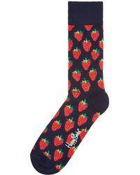 Happy Socks - Men's Strawberry Print Sock - Lyst