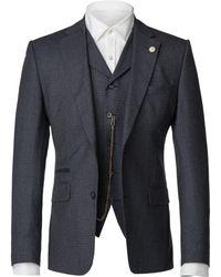 Gibson - Men's Dark Blue Brushed Check Jacket - Lyst