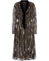 Biba Floral Gold Foil Dress - Black