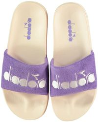 Diadora Serifos 90s Sponge Pool Sliders - Purple