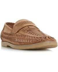 Howick - Brazill Woven Saddle Loafers - Lyst