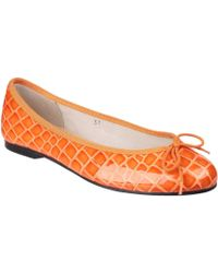 French Sole - Henrietta Womens Orange Ballet Court Shoes - Lyst
