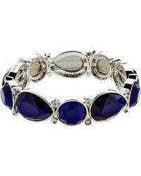 Monet - Silver Montana Shapes Stretch Bracelet - Lyst