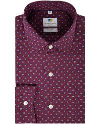 Richard James - Men's Shadow Square Print Slim Fit Shirt - Lyst
