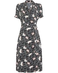 Part Two - Kaisa Patterned Tie Dress - Lyst
