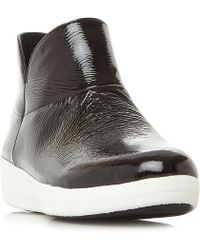 Fitflop - Supermod Ankle Patent Chelsea Boots - Lyst