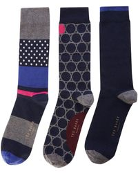 Ted Baker - Men's 3pk Socks - Lyst