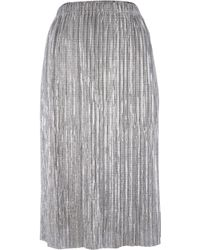 Label Lab - Metallic Plisse Skirt - Lyst