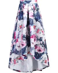 Jolie Moi - Printed High Low Prom Skirt - Lyst
