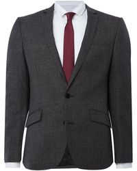 Kenneth Cole Parsons Slim Fit Textured Suit Jacket - Gray