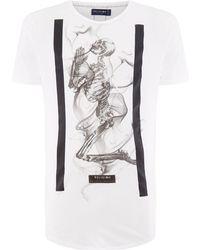 Religion - Men's Smokey Praying Skull T-shirt - Lyst