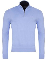 Eden Park - Cotton Sweater With Zip Up Detail - Lyst
