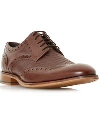 Bertie - Perth Embossed Wingtip Brogue Shoes - Lyst