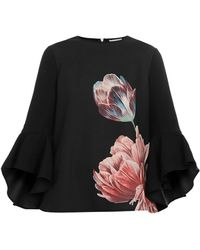 Ted Baker - Suuzan Tranquility Waterfall Sleeve Top - Lyst
