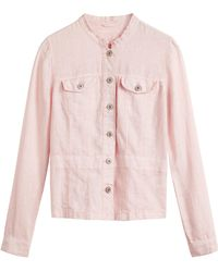 Sandwich - Linen Jacket With Front Pockets - Lyst