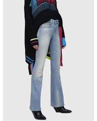 DIESEL - D Ebbey Mid Rise Bootcut Jeans - Lyst