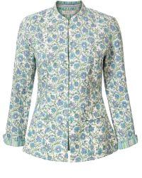 East - Handblock Kavita Print Jacket - Lyst