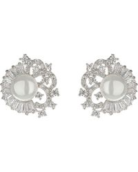 Mikey - Pearl Centre Surround Filigree Stud - Lyst