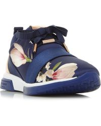 Ted Baker - Cepap Printed Lace Up Trainers - Lyst